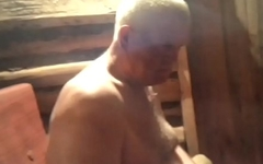 Chubby Men Naked in the Sauna