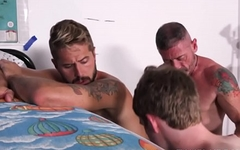 Jock And Twink Step Brothers Threesome With Bear Step Dad