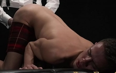 BoyForSale - Young boy stripped naked, fondled, and probed with glass dildo