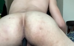 Slut with big ass ride a big toy until he comes :)