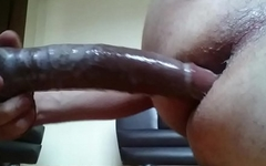 Big wet dildo Hard fuck
