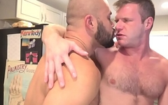 Bearded wolf drills tight ass bareback