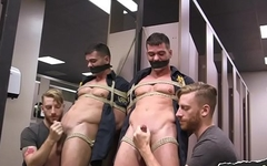 Police gay bound and blown in lavatory