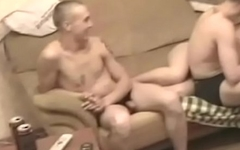 Comp: Lads wank together on cam while waiting for the girl