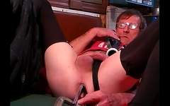 New device opening up my ass pussy
