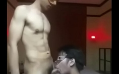 Asian boy worship