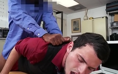 Office jock bent over desk for anal