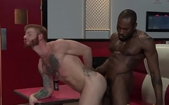 Ripped ginger dude jizzed