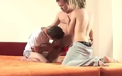 Dad and two boys orgy