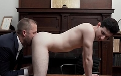 Mormon youngster bent over for bareback and rimming