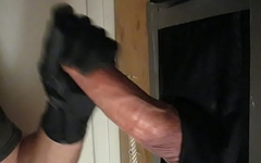 monster cock in a gloryhole