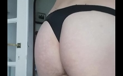 amazing ass with black thong