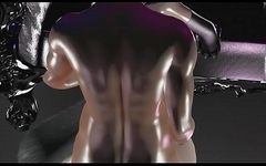 Femboy loves to be fucked hard on the throne 3D Hentai Oiled BSDM