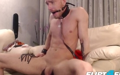 Steve Blond - Flirt4Free - Hot Euro Stud Tortures Himself in Bondage