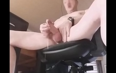 exhibitionist twink slowmotion cumshot closeup jerking