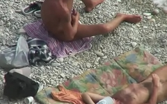 Nudist Beach jerk off cruise