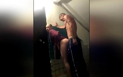 Former prisoner fucks gay Strawberry at the entrance