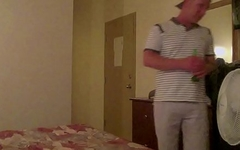 Straight guy tricked into jerking off with a dude caught on hidden camera