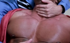 Muscled latin hunk railed raw